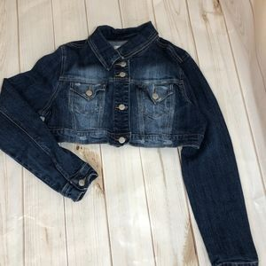 Jackets & Blazers - Classic Cropped Denim Jacket Junior Large (11/13)